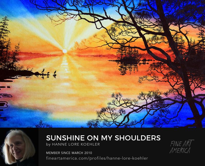 Sunset Lake Art Prints