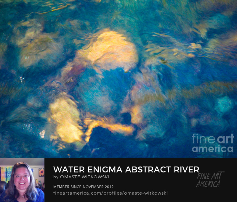 Water Enigma Abstract Large Brushes Art Prints