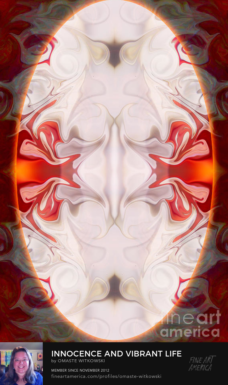 Innocence And Vibrant Life Abstract Mandala Artwork Wheels Of Enlightenment Art Prints