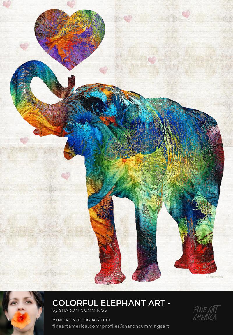Elephant Animal Art Prints