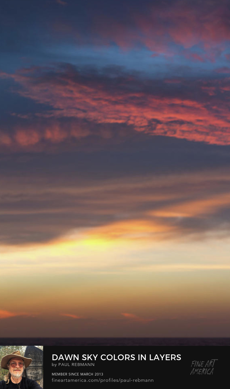 View online purchase options for Dawn Sky Colors in Layers by Paul Rebmann