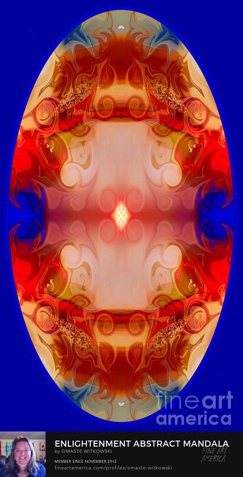 Enlightenment Abstract Mandala Artwork Wheels Of Enlightenment Art Prints