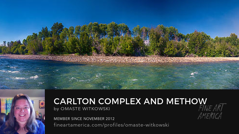 Carlton Complex And Methow River Methow Valley Panorama