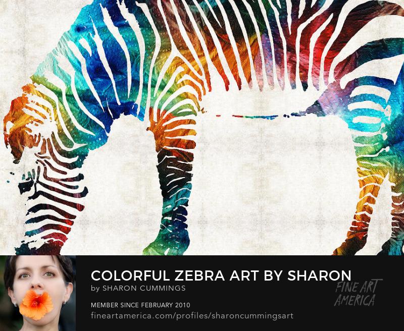 Zebra Animal Prints Colorful Art