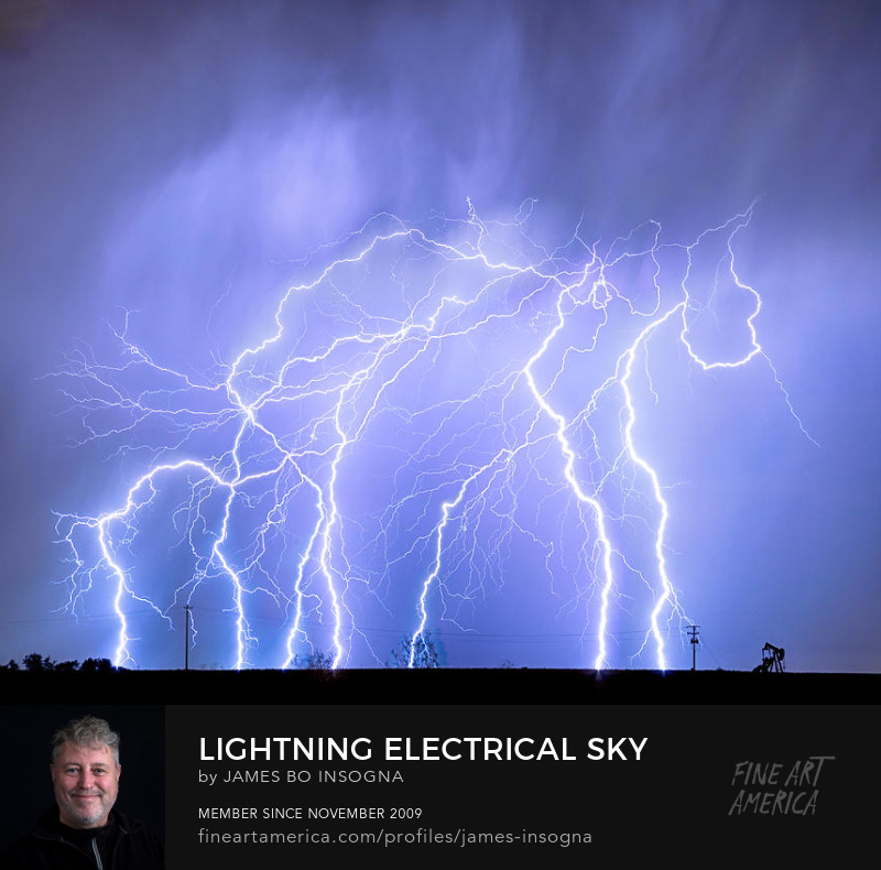 Lightning Thunderstorm Electrical Sky Photography Prints