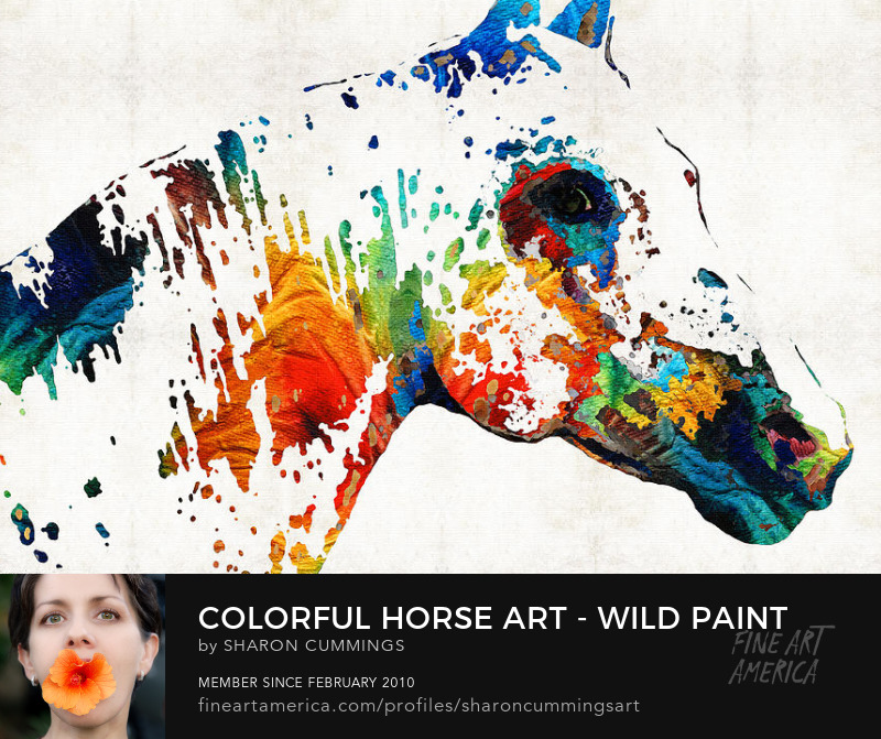 Colorful Horse Art Prints