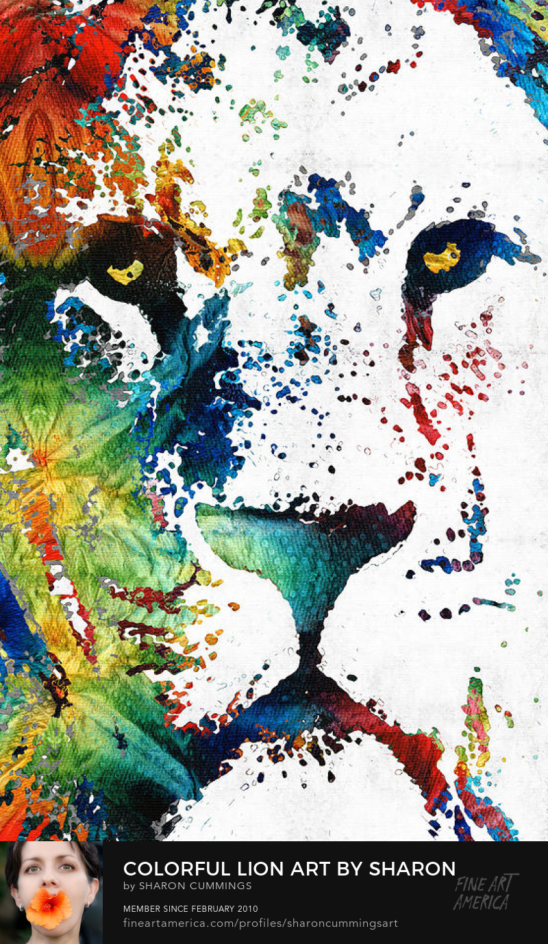 Lion Art Prints Animal Paintings