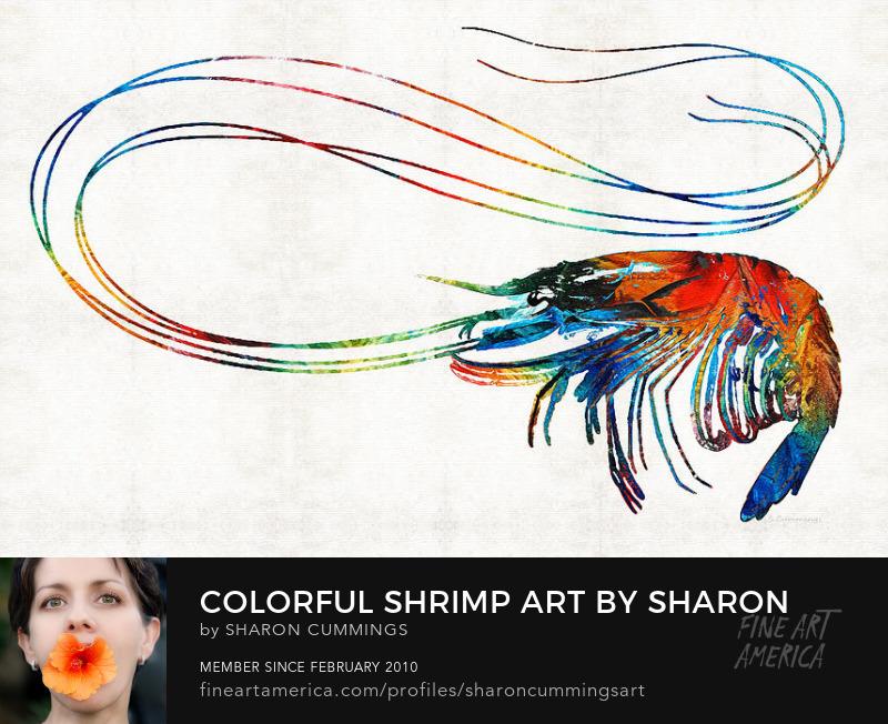 Seafood Art Prints Cajun Shrimp
