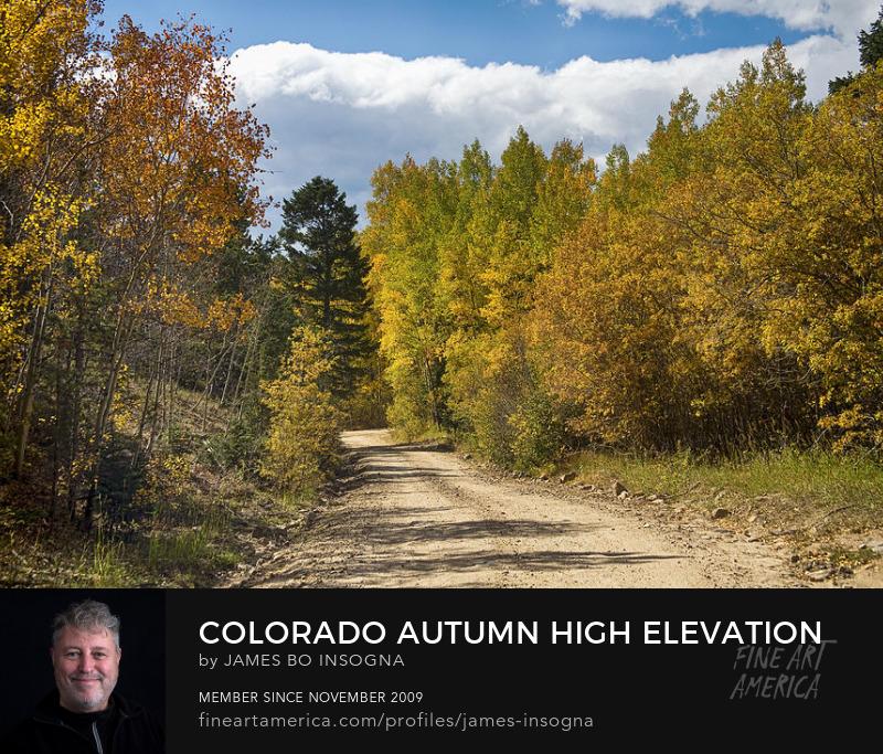 Colorado Autumn High Elevation Rocky Mountain 4 Wheeling Print