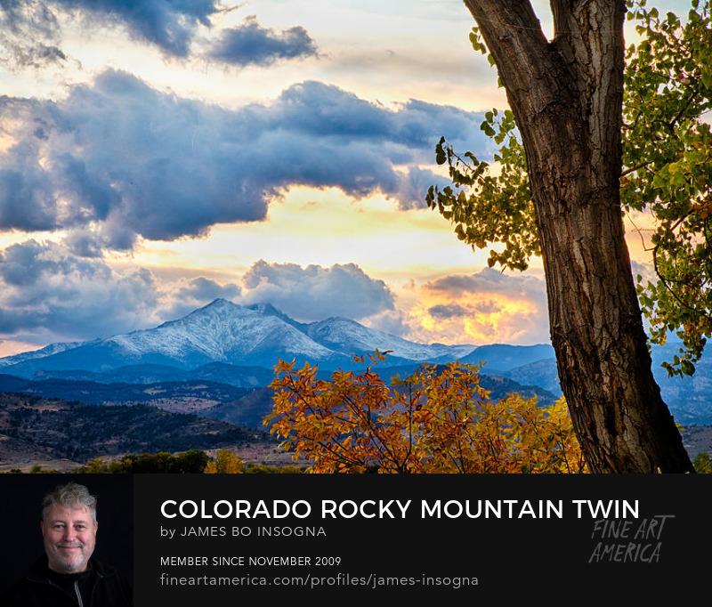 Colorado Rocky Mountain Twin Peaks Autumn View Art Prints