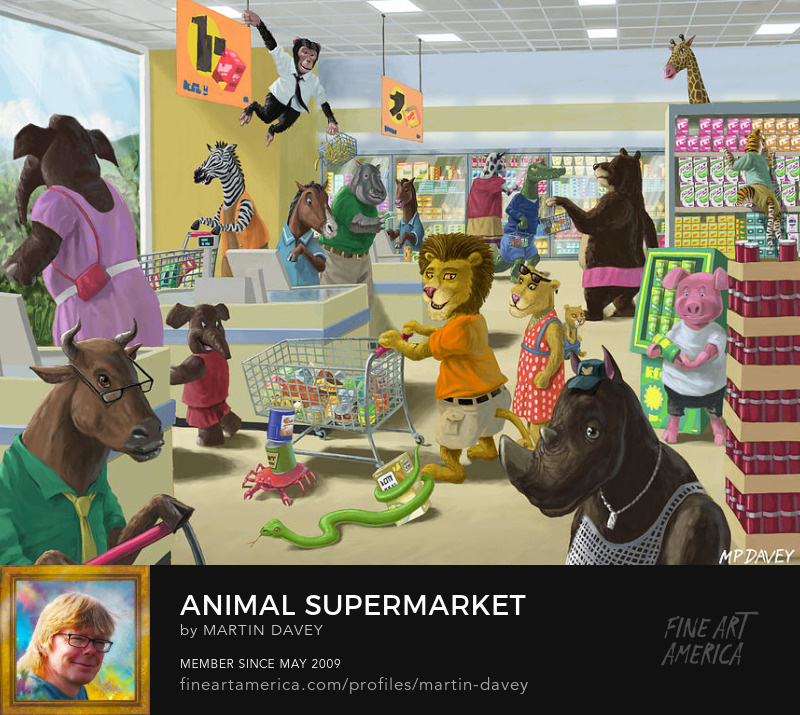 Animal Supermarket-digital painting