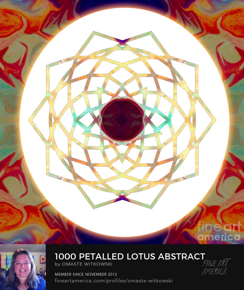 1000 Petalled Lotus Abstract Chakras Art Prints