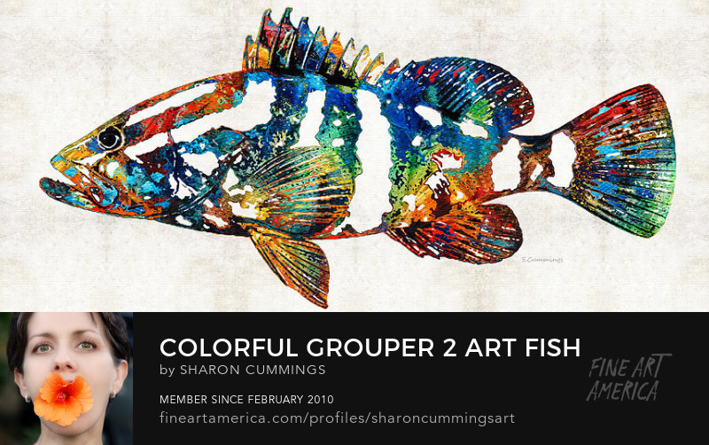 Grouper Fish Art Prints