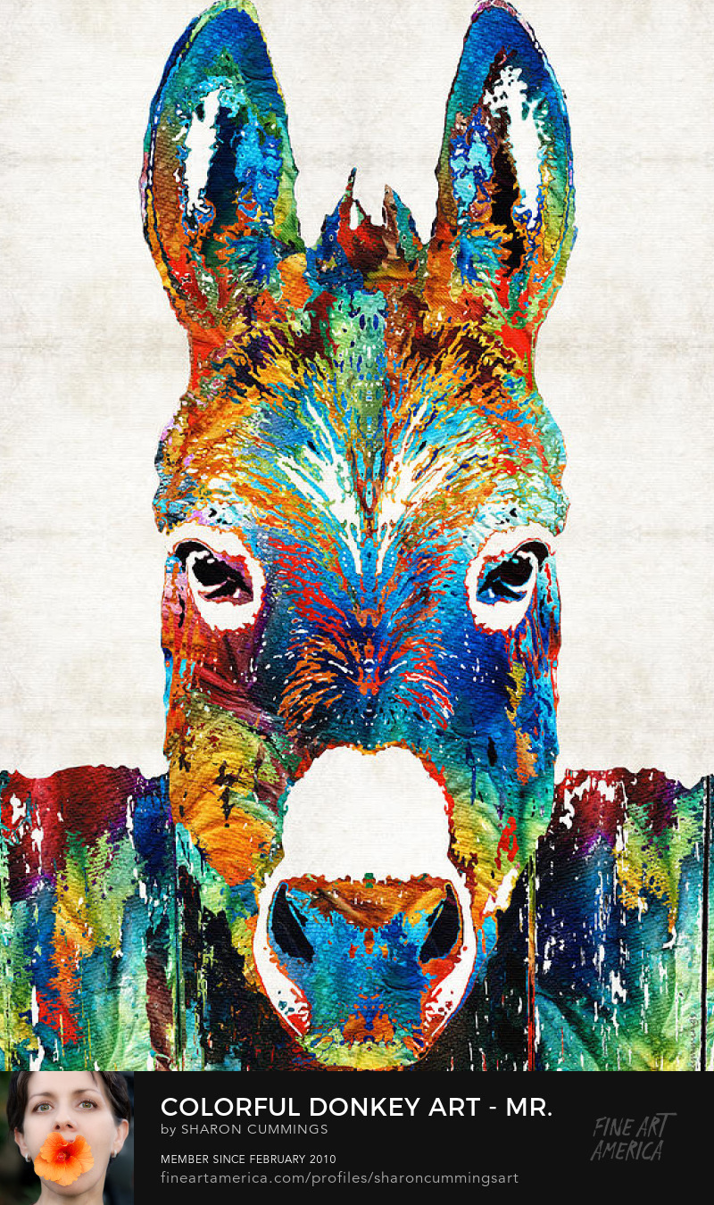 Colorful Donkey Art Painting Prints