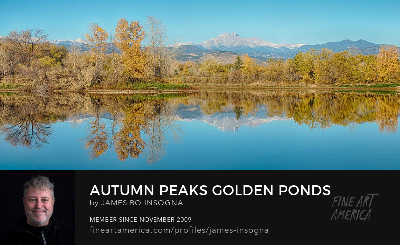 Autumn Peaks Golden Ponds Reflections Panorama