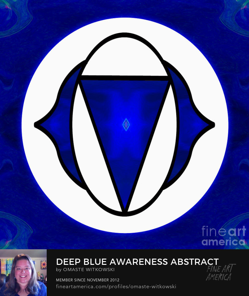 Deep Blue Awareness Abstract Chakras Art Prints