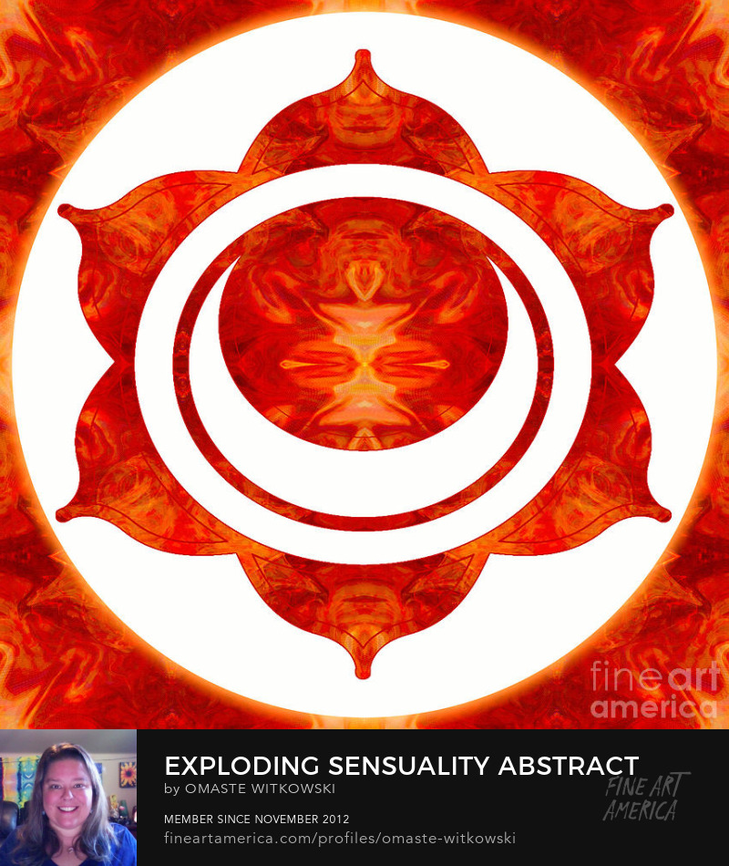 Exploding Sensuality Abstract Chakra Art by Omaste Witkowski