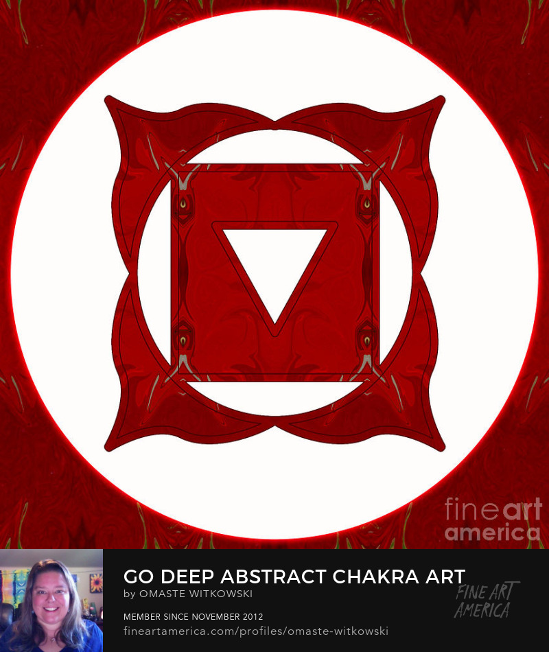 Go Deep Abstract Chakras Art Prints