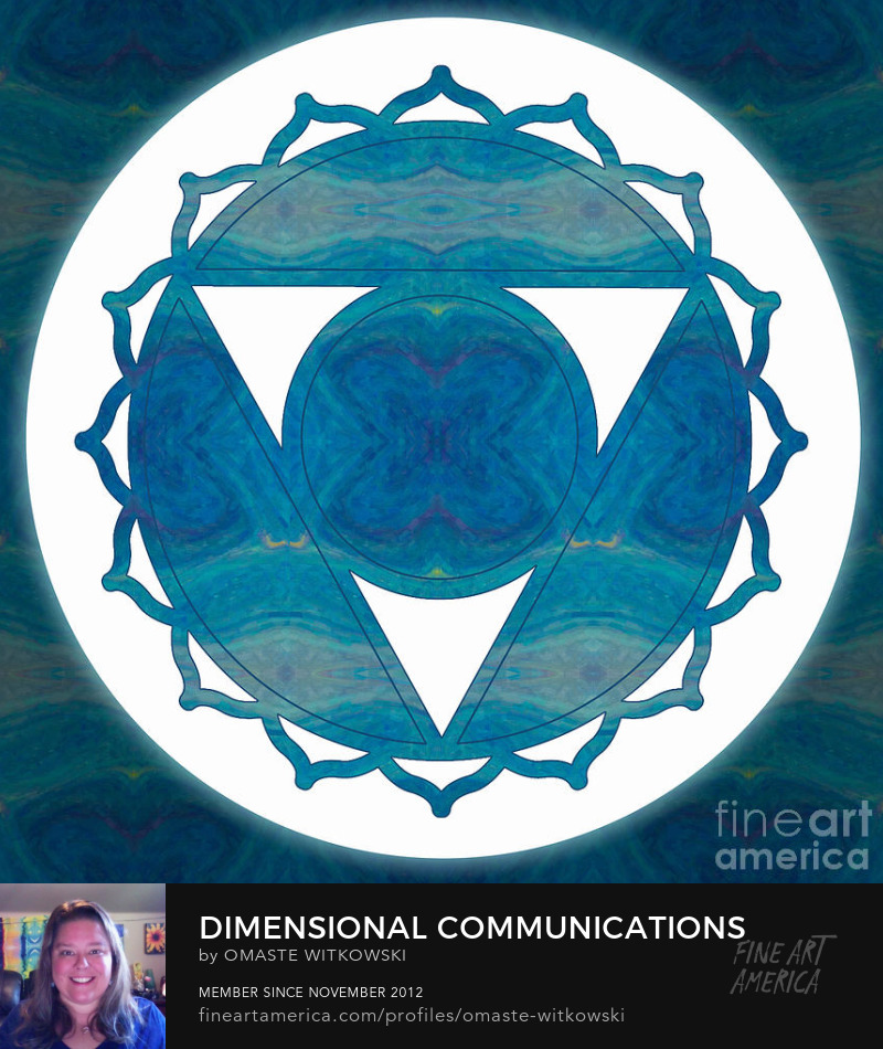 Dimensional Communications Abstract Chakras Art Prints