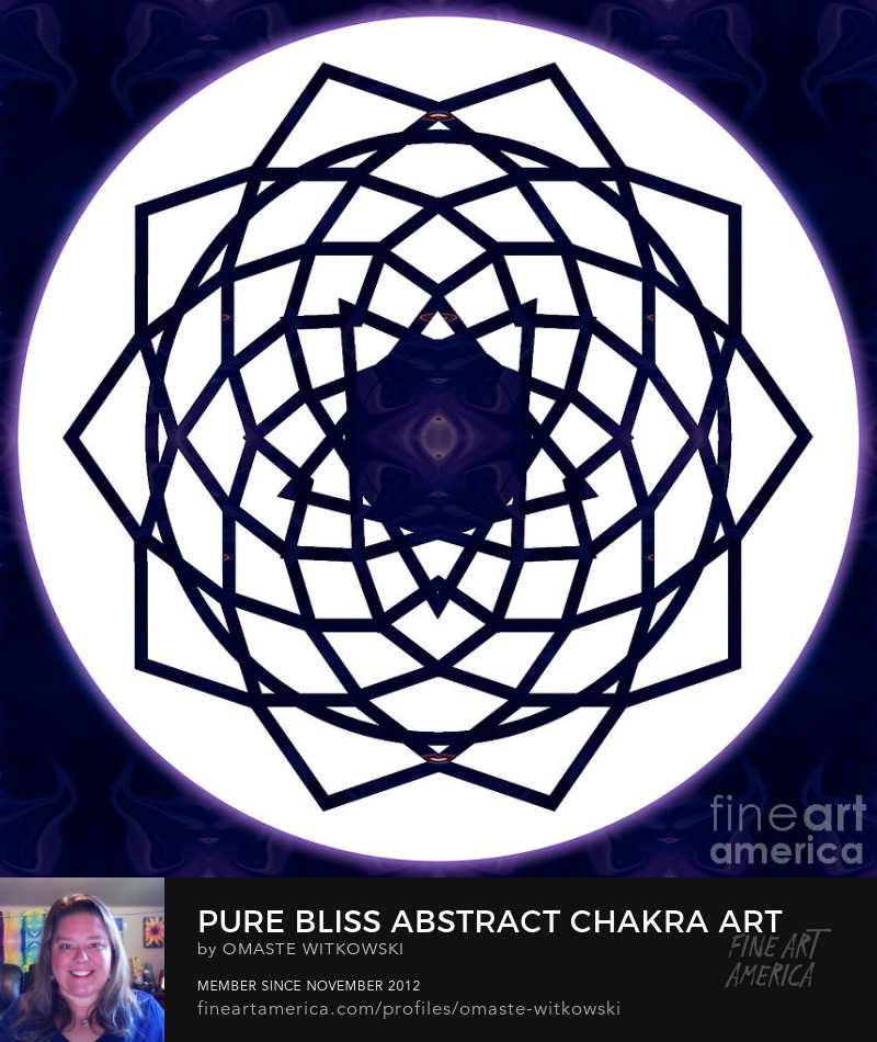 Pure Bliss Abstract Chakras Art Prints