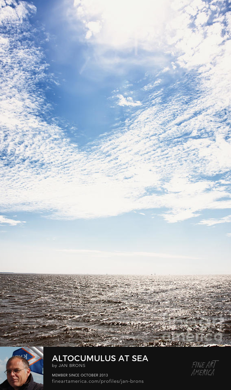 Altocumulus at sea - Photography Prints