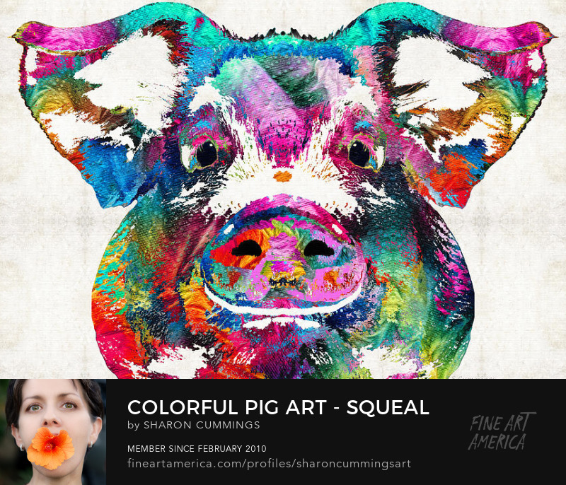 Colorful Pig Art Animal Prints