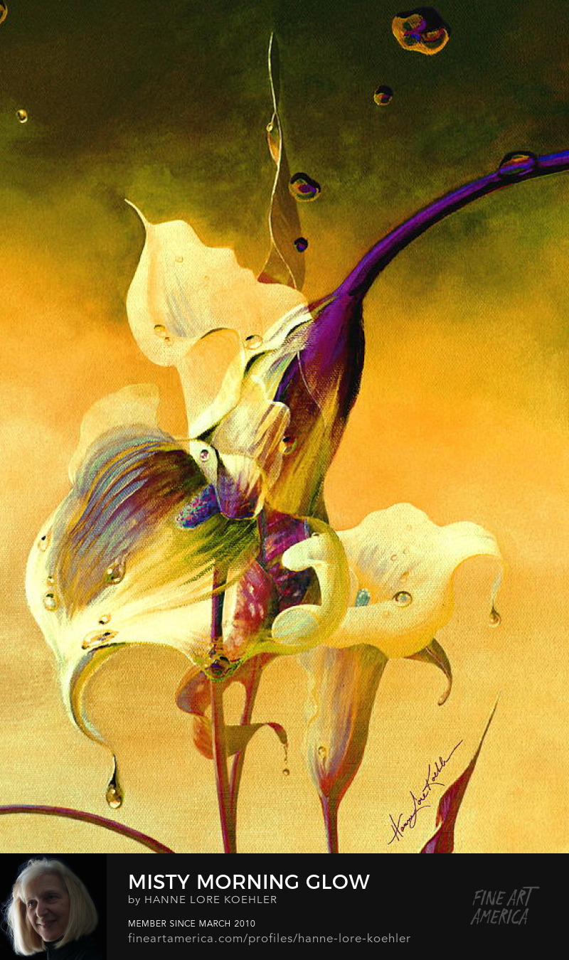 Painting Of Calla Lilies