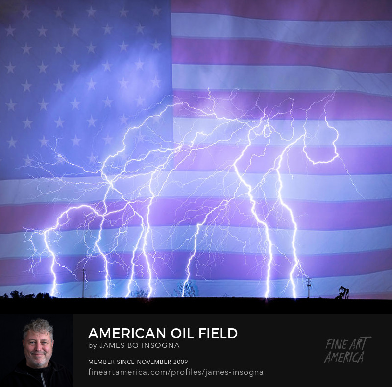 American Oil Field Art Print