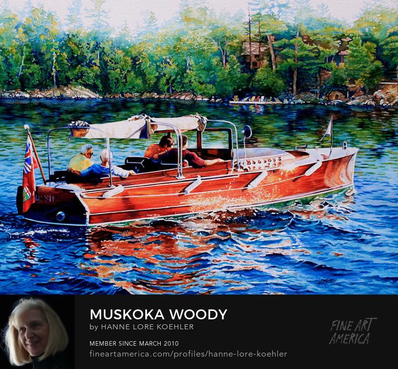 Woody Cruiser Motor Boat Art Prints
