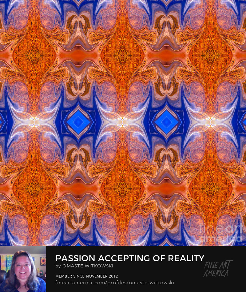 Passion Accepting Of Reality Abstract Dimensional Patterns of Color and Light Art Prints