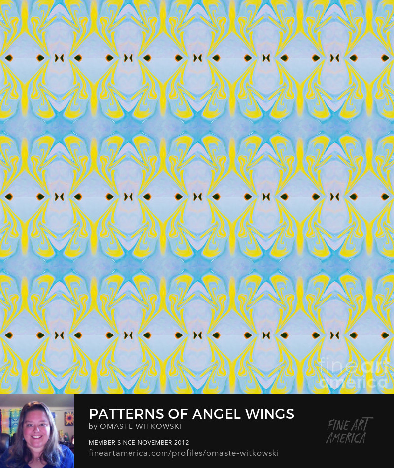 Patterns Of Angel Wings Abstract Dimensional Patterns of Color and Light Art Prints