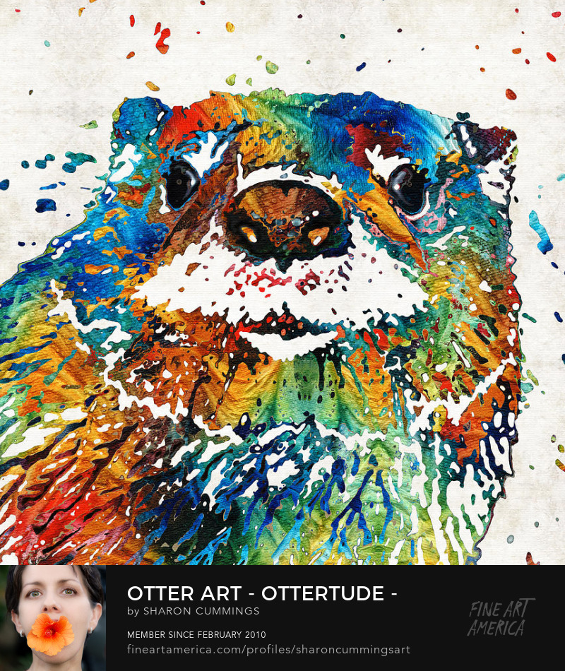 Otter Art Prints Animal Paintings