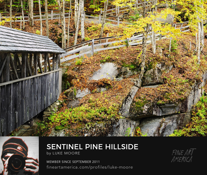 New Hampshire NH Covered Bridge Flume Gorge White Mountains