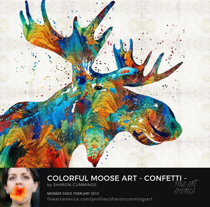 Moose Art Animal Prints