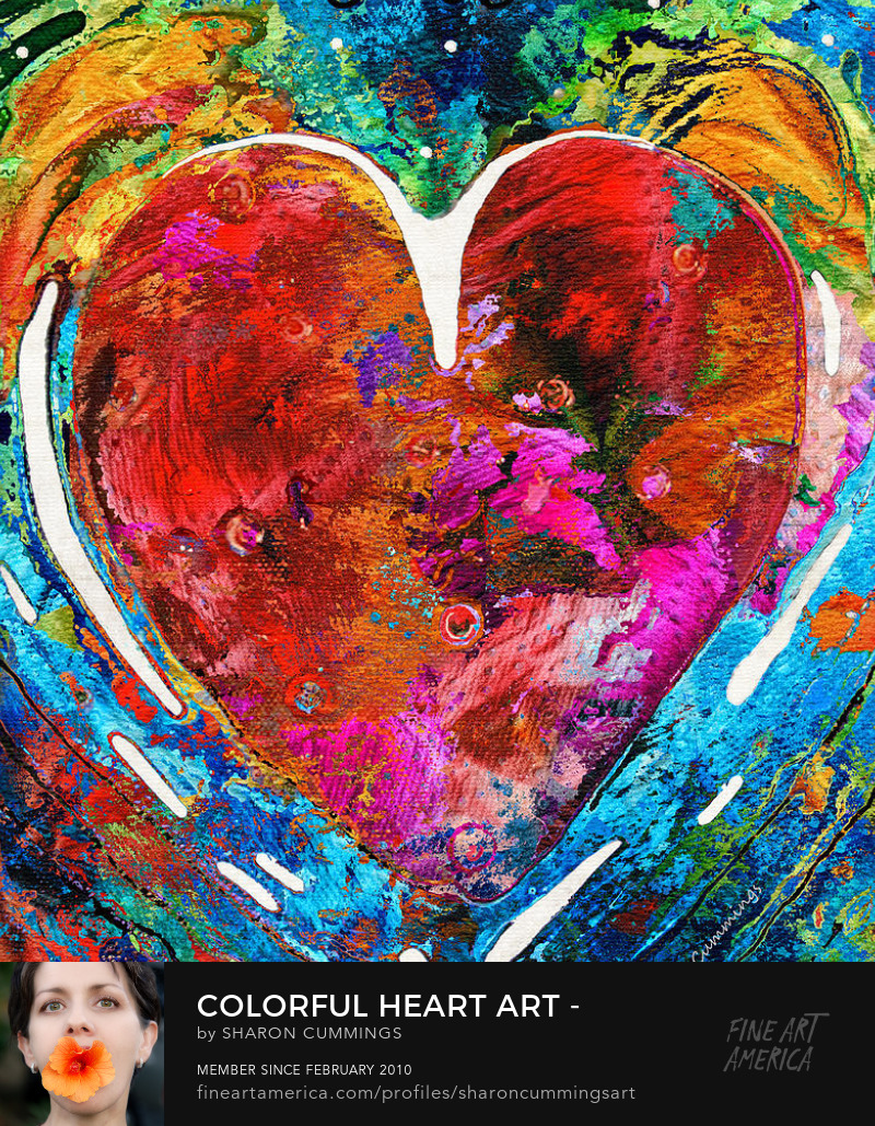 Colorful Heart Art Prints Love