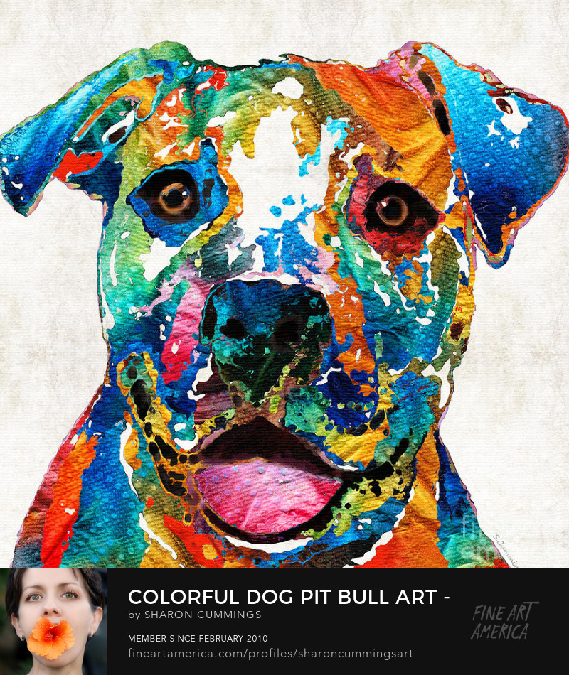 Pit Bull Art Paintings