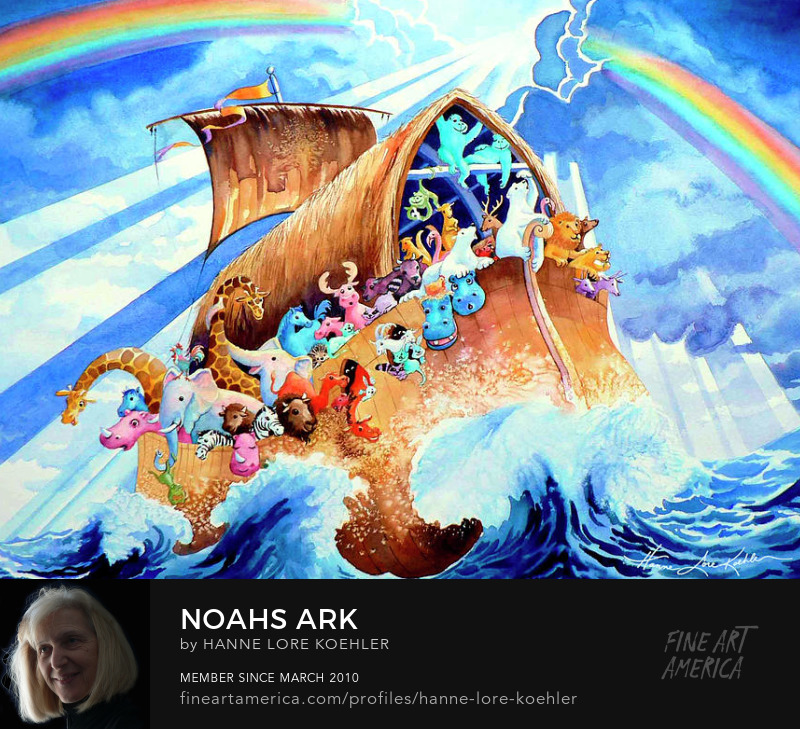 Noahs Ark Art Prints and Wall Mural For Young Children
