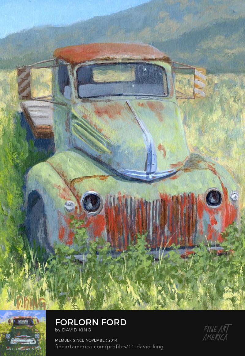art painting truck Ford old vintage rust antique