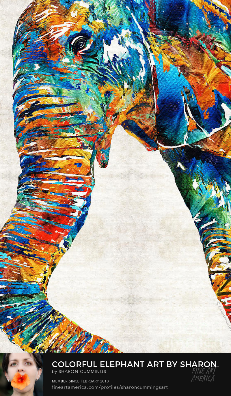 Colorful Elephant Art Prints Paintings
