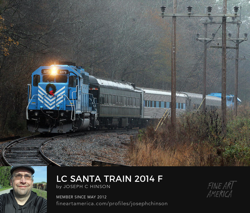 Lancaster Chester Railroad Santa Train Joe the Photog