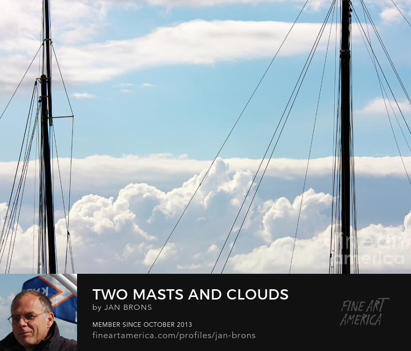 Two masts and clouds - Photography Prints