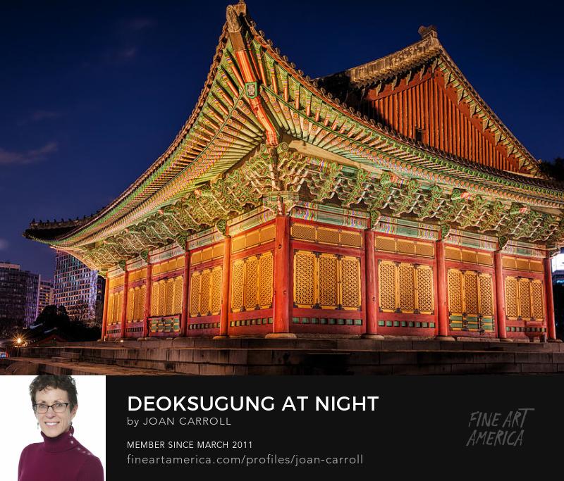 Deoksugung at Night Joan Carroll Photography Digital Art