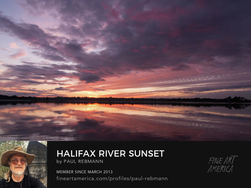 Purchase Halifax River Sunset by Paul Rebmann
