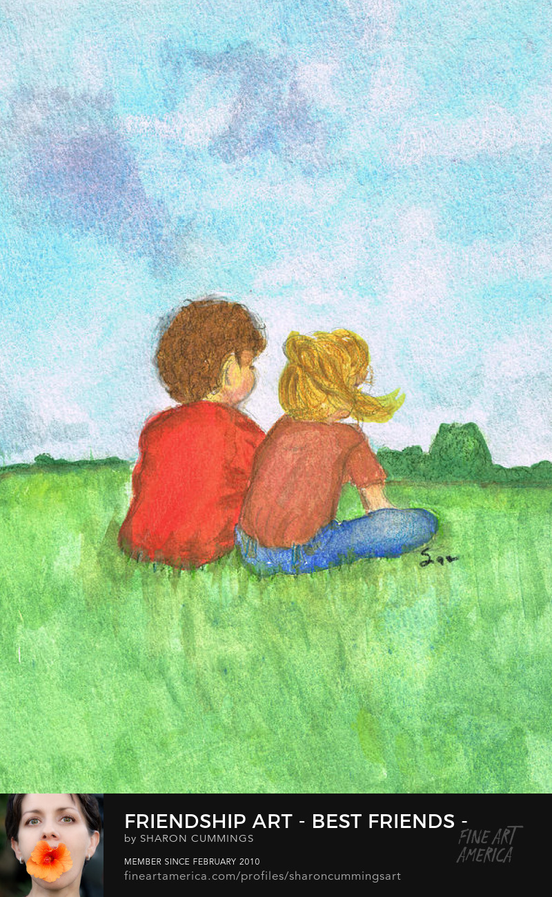 Friendship Art Prints Best Friends