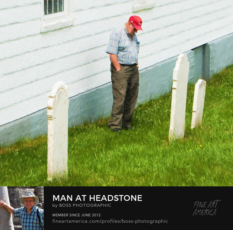 Man at Headstone