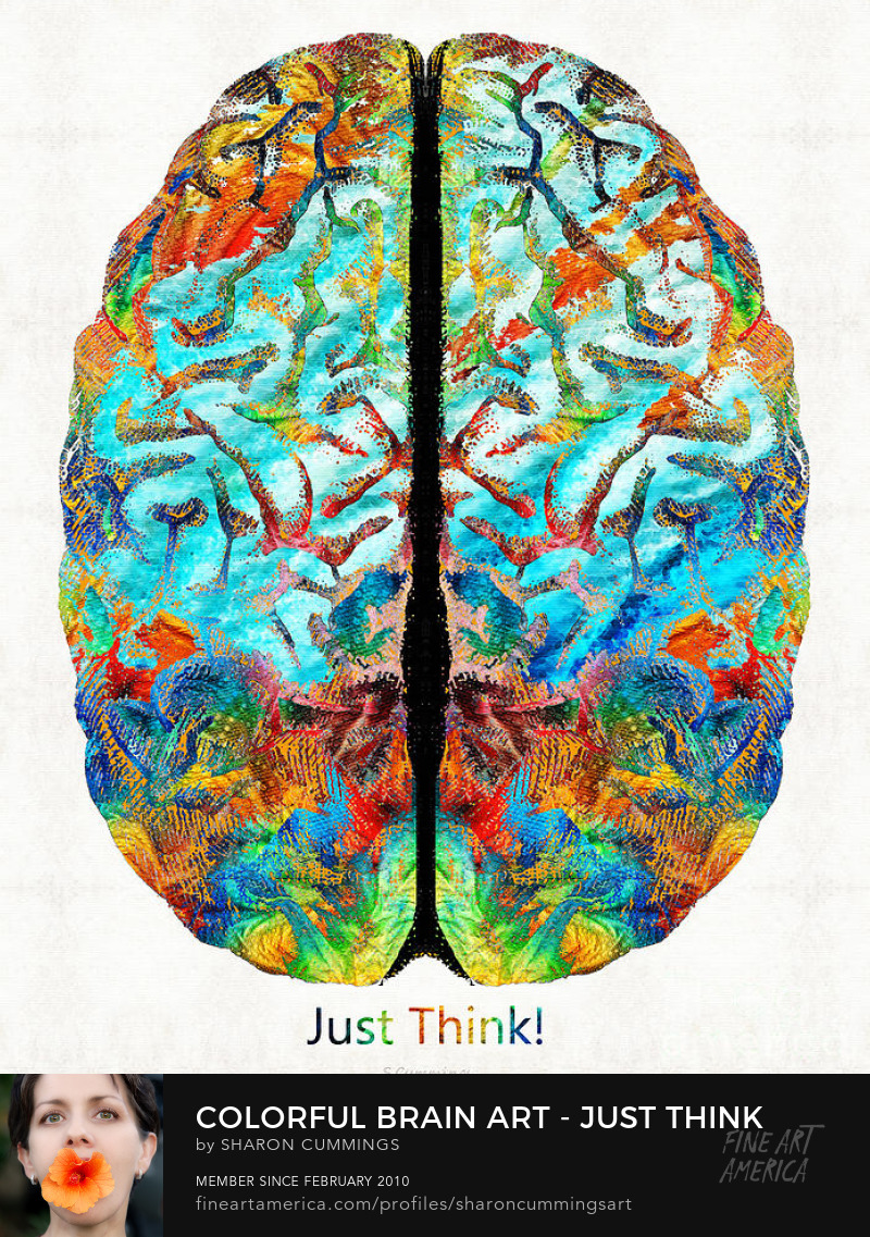 Intelligent Brain Art Prints