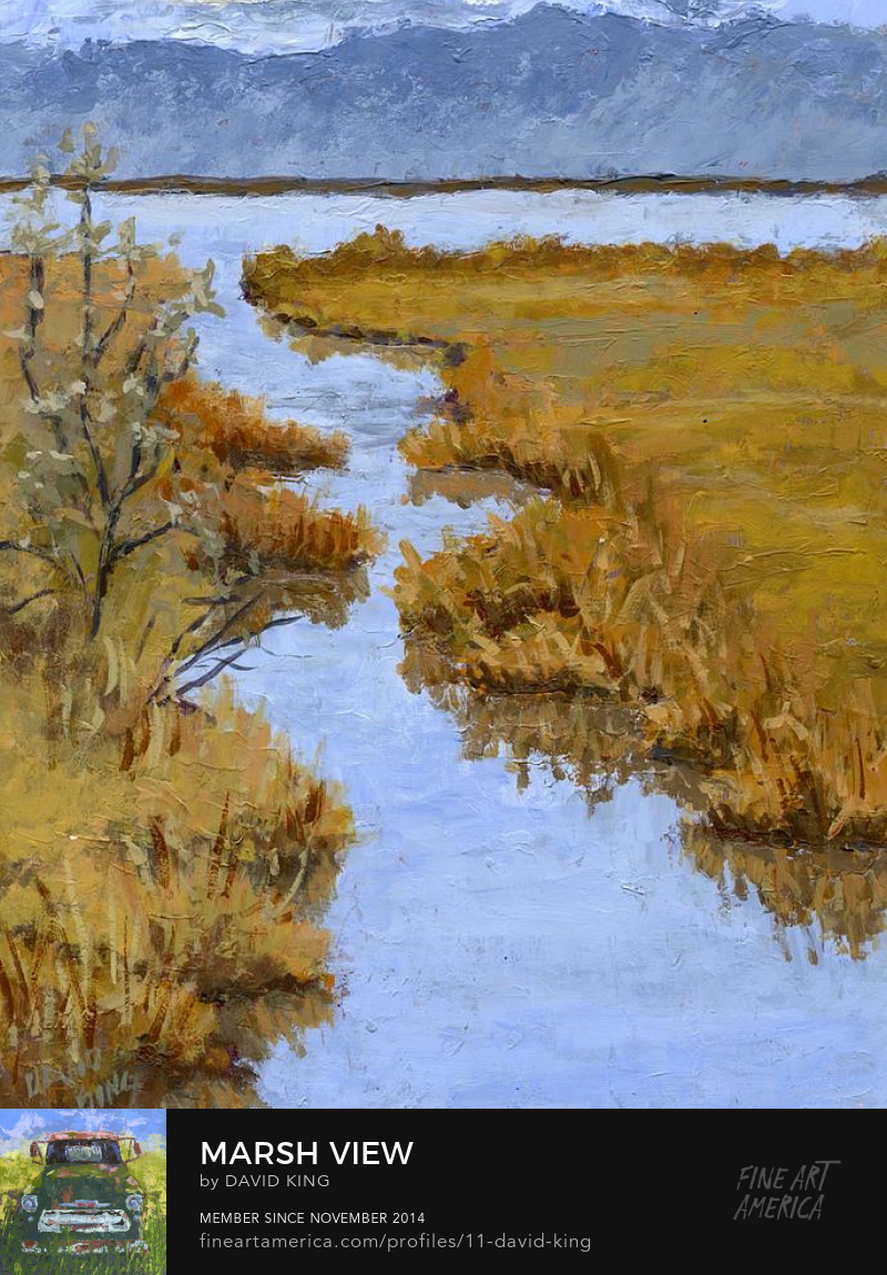 art painting landscape Farmington wetland Utah marsh David King Studio
