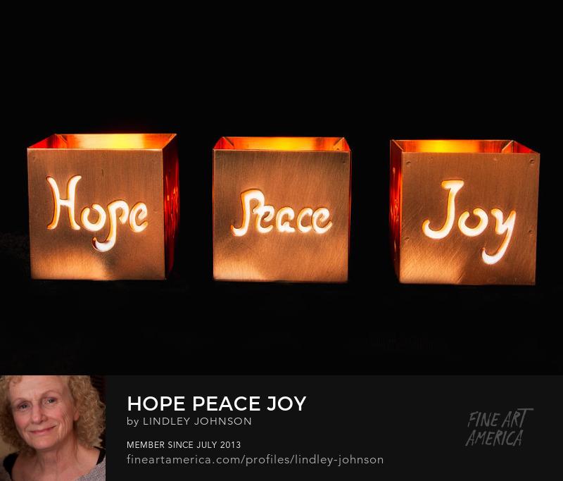 hope peace joy by lindley johnson