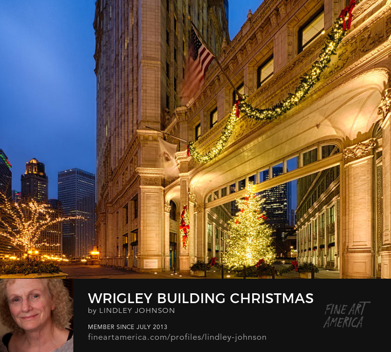 wrigley building christmas by lindley johnson