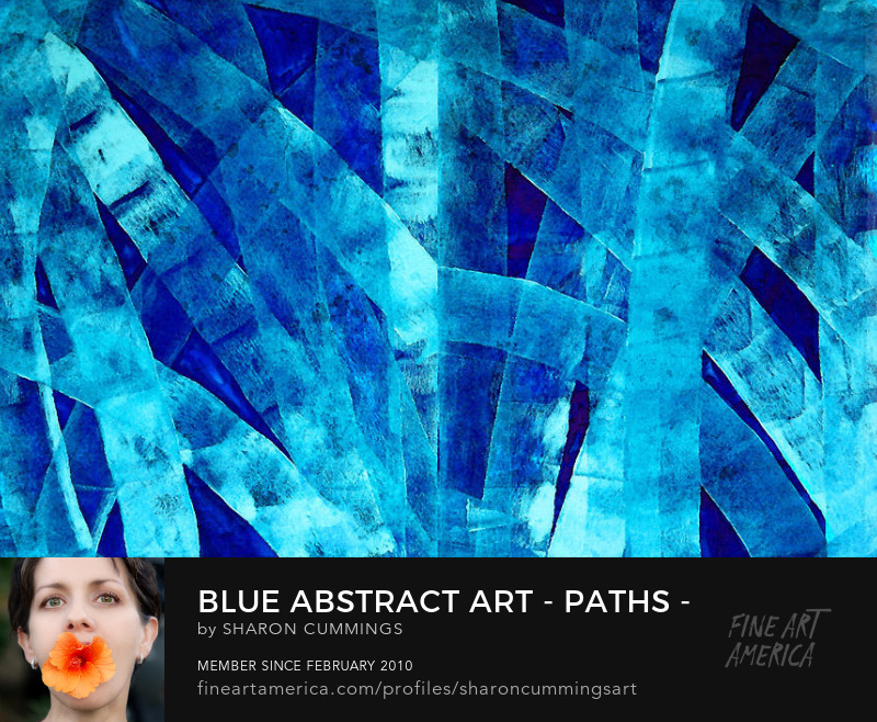 Blue Abstract Art Canvas Prints